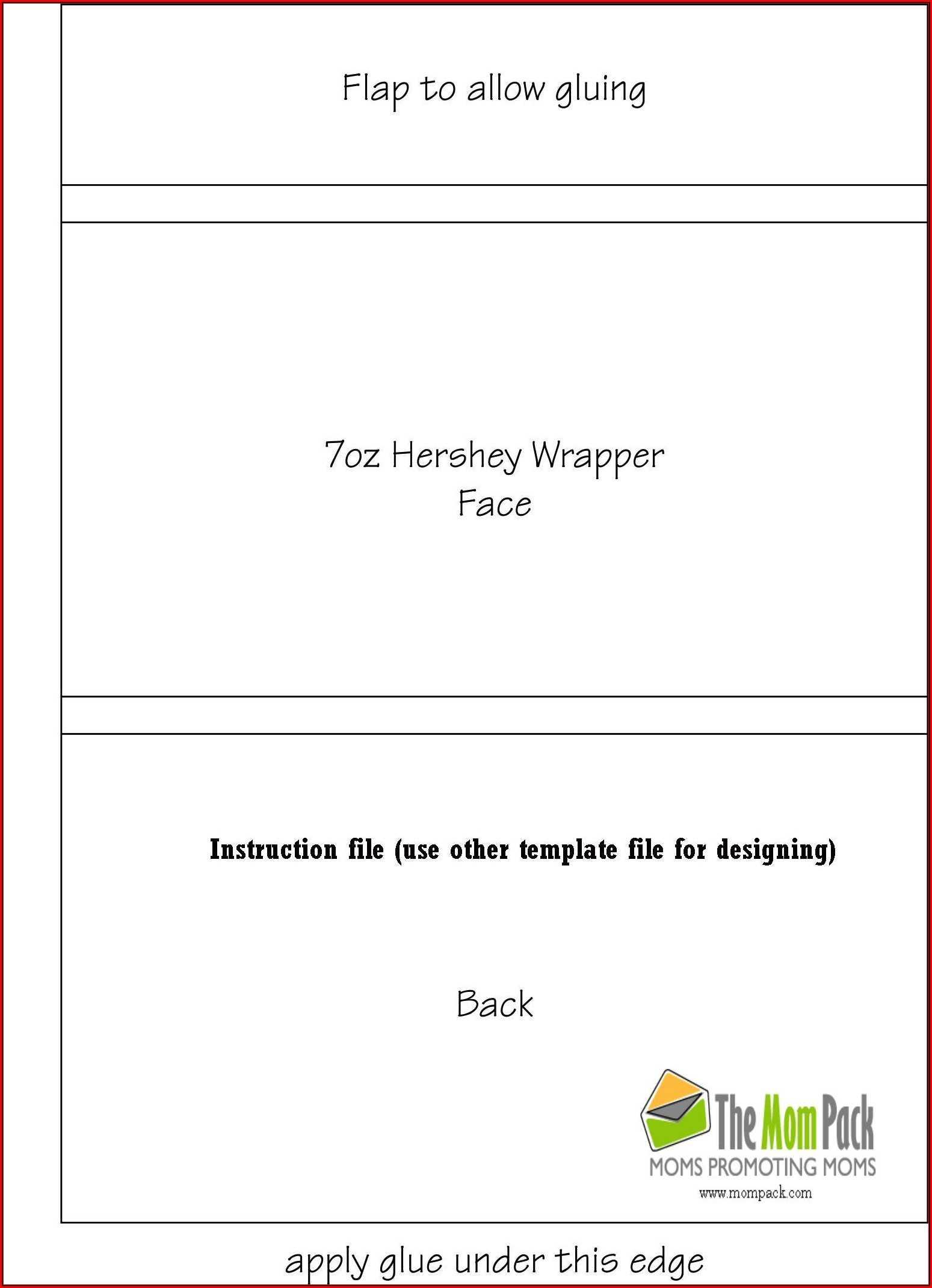 1.55 Oz Hershey Bar Wrapper Template - Template 1 : Resume For Blank Candy Bar Wrapper Template For Word