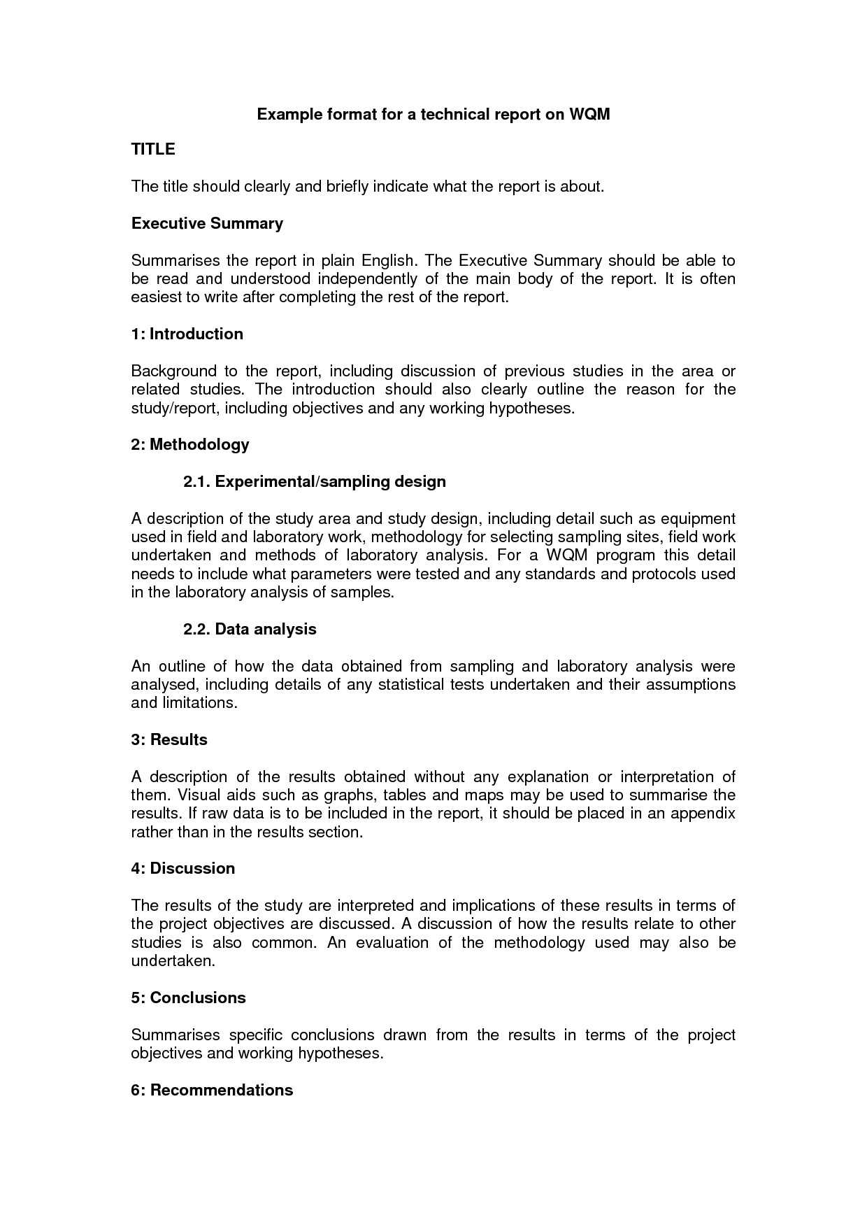 10+ Technical Report Writing Examples - Pdf   Examples For How To Write A Work Report Template