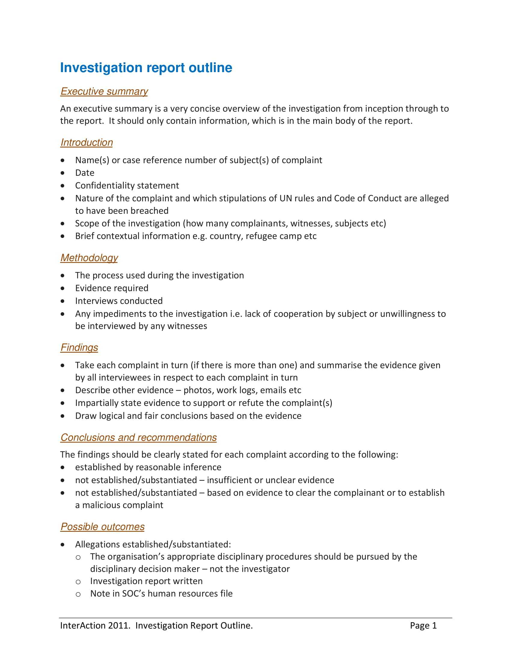 10+ Workplace Investigation Report Examples - Pdf   Examples Regarding Hr Investigation Report Template