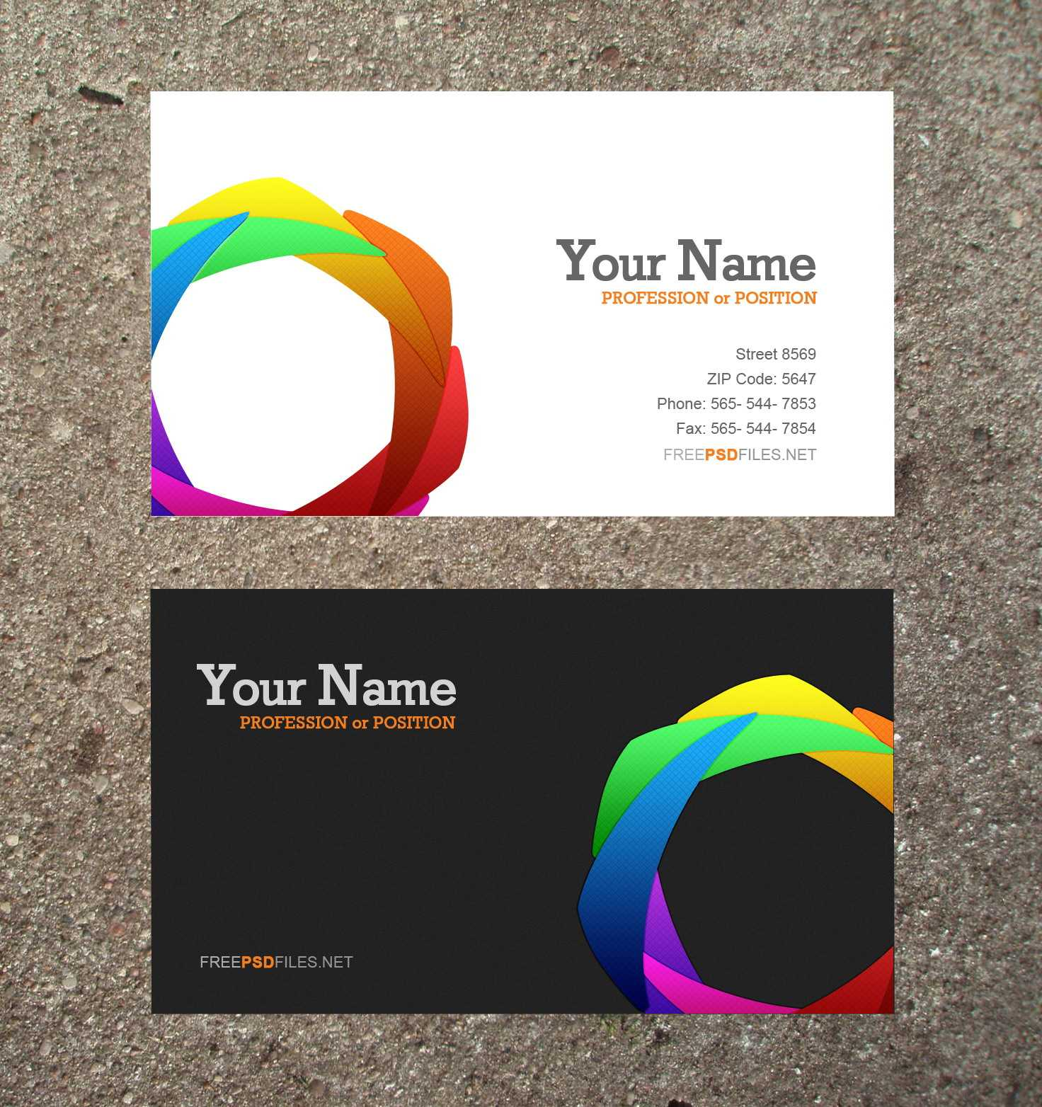 16 Business Card Templates Images – Free Business Card Inside Plain Business Card Template Microsoft Word