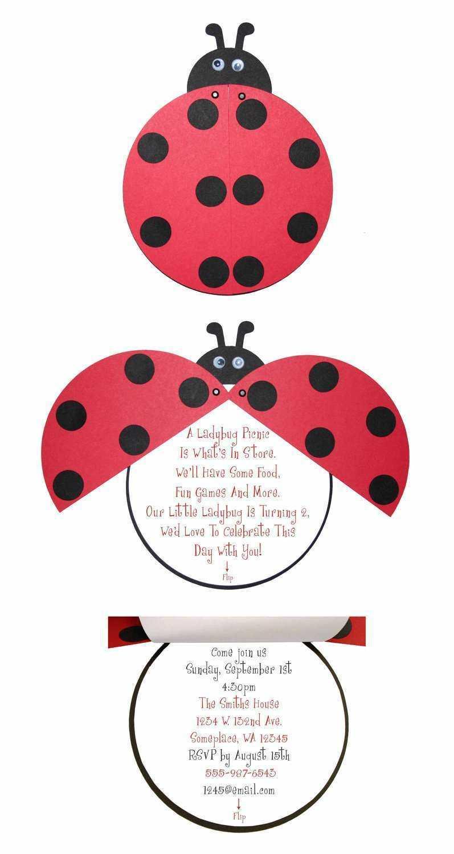 18 Printable Blank Ladybug Invitation Template Now With Within Blank Ladybug Template