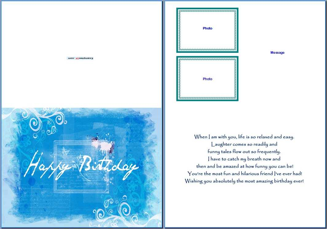 19 Birthday Card Templates For Word Images – Free Birthday With Free Blank Greeting Card Templates For Word