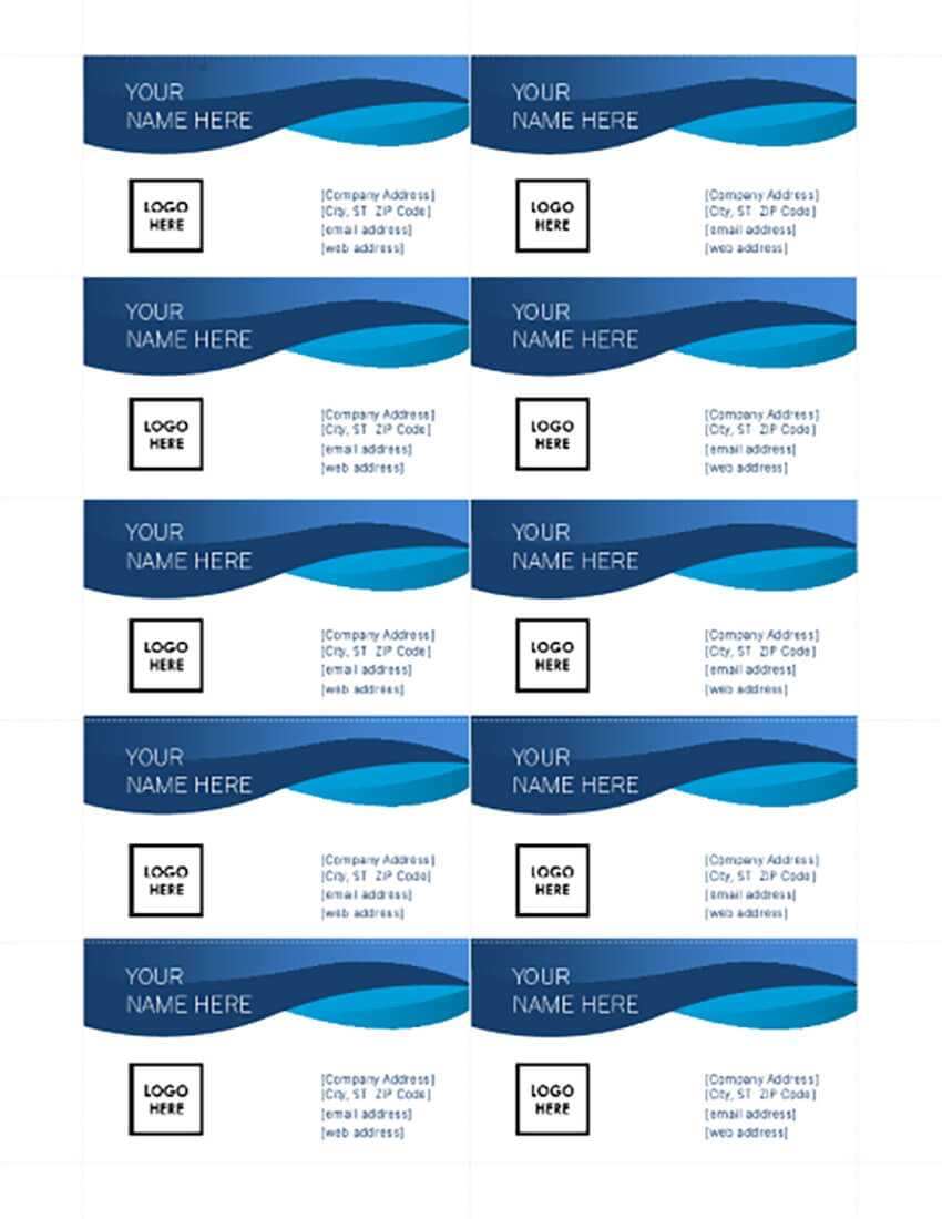 25+ Free Microsoft Word Business Card Templates (Printable Intended For Free Business Cards Templates For Word