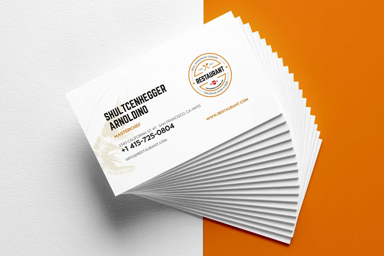 29+ Creative Restaurant Business Card Templates – Ai, Apple Within Plain Business Card Template Microsoft Word