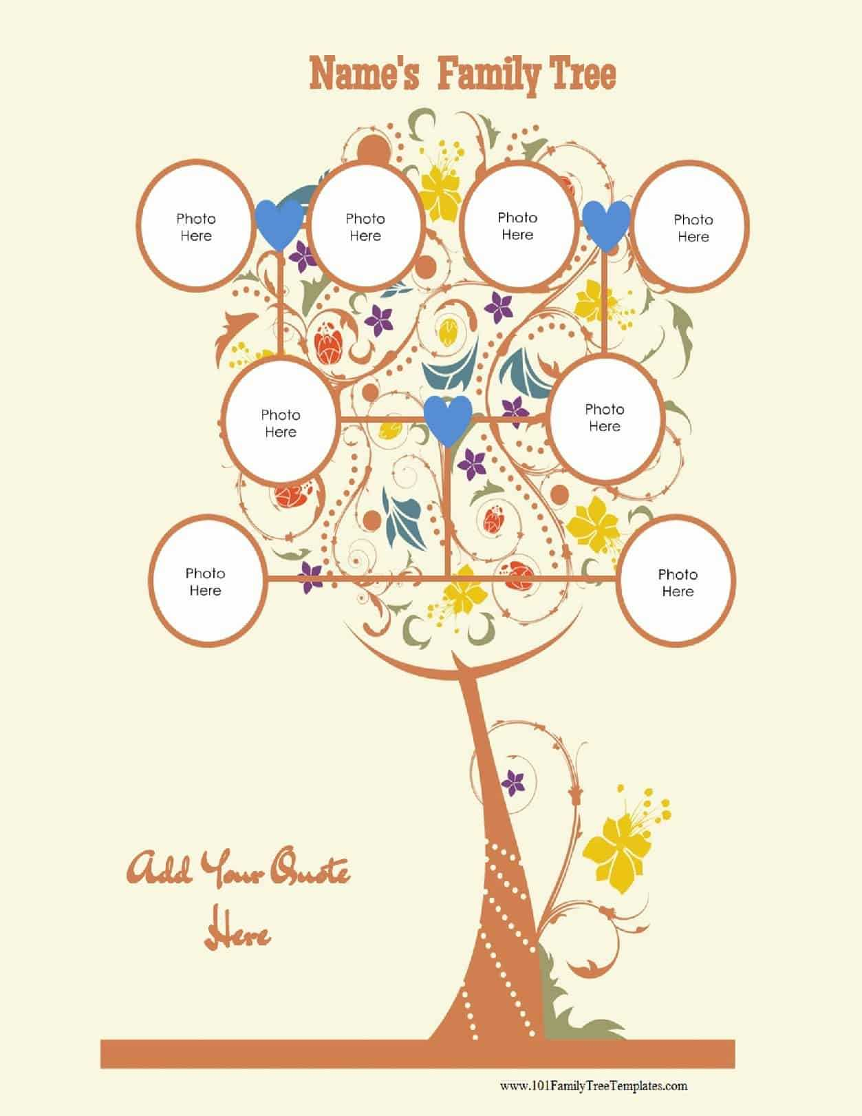 3 Generation Family Tree Generator   All Templates Are Free Intended For Blank Family Tree Template 3 Generations