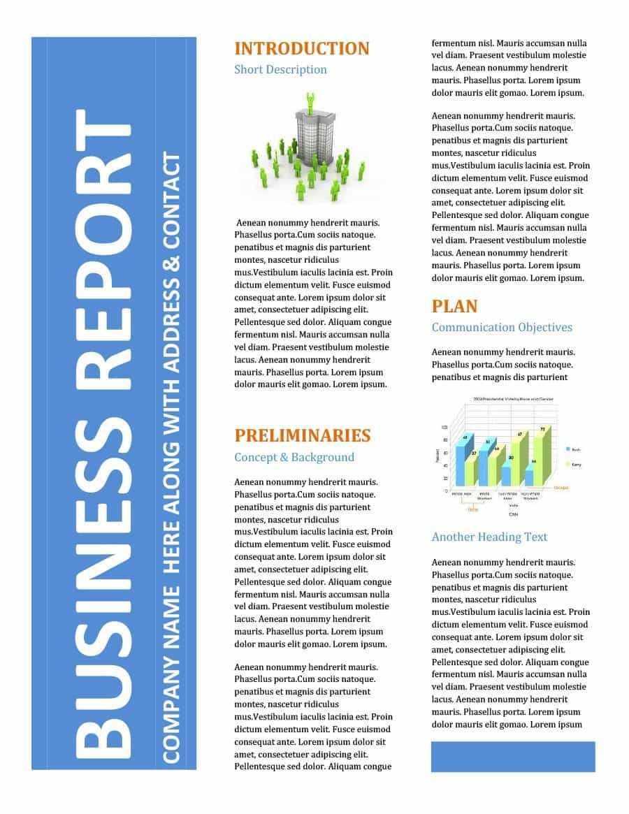 30+ Business Report Templates & Format Examples ᐅ Templatelab Regarding Report Writing Template Download