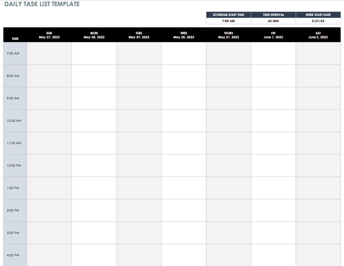 30+ Free Task And Checklist Templates | Smartsheet Throughout Daily Task List Template Word