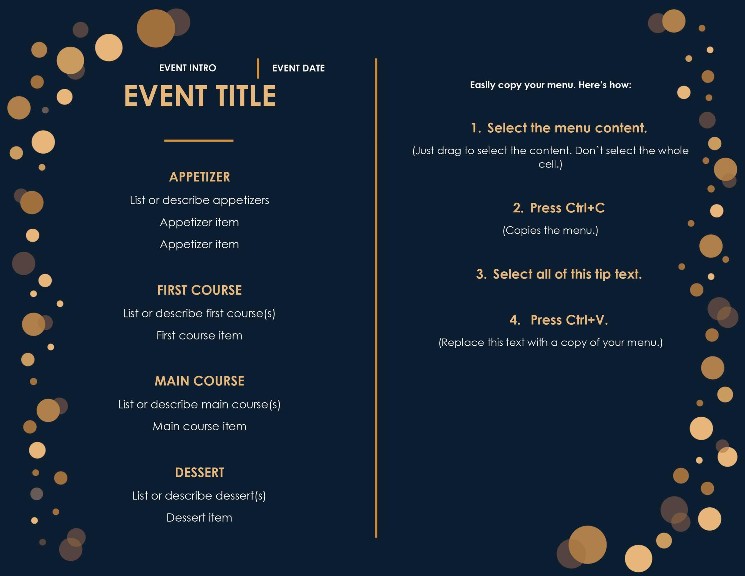 32 Free Simple Menu Templates For Restaurants, Cafes, And With Regard To Free Cafe Menu Templates For Word