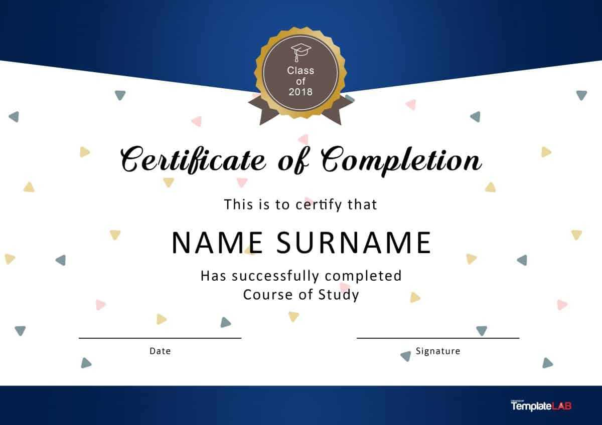 40 Fantastic Certificate Of Completion Templates [Word For Blank Certificate Of Achievement Template