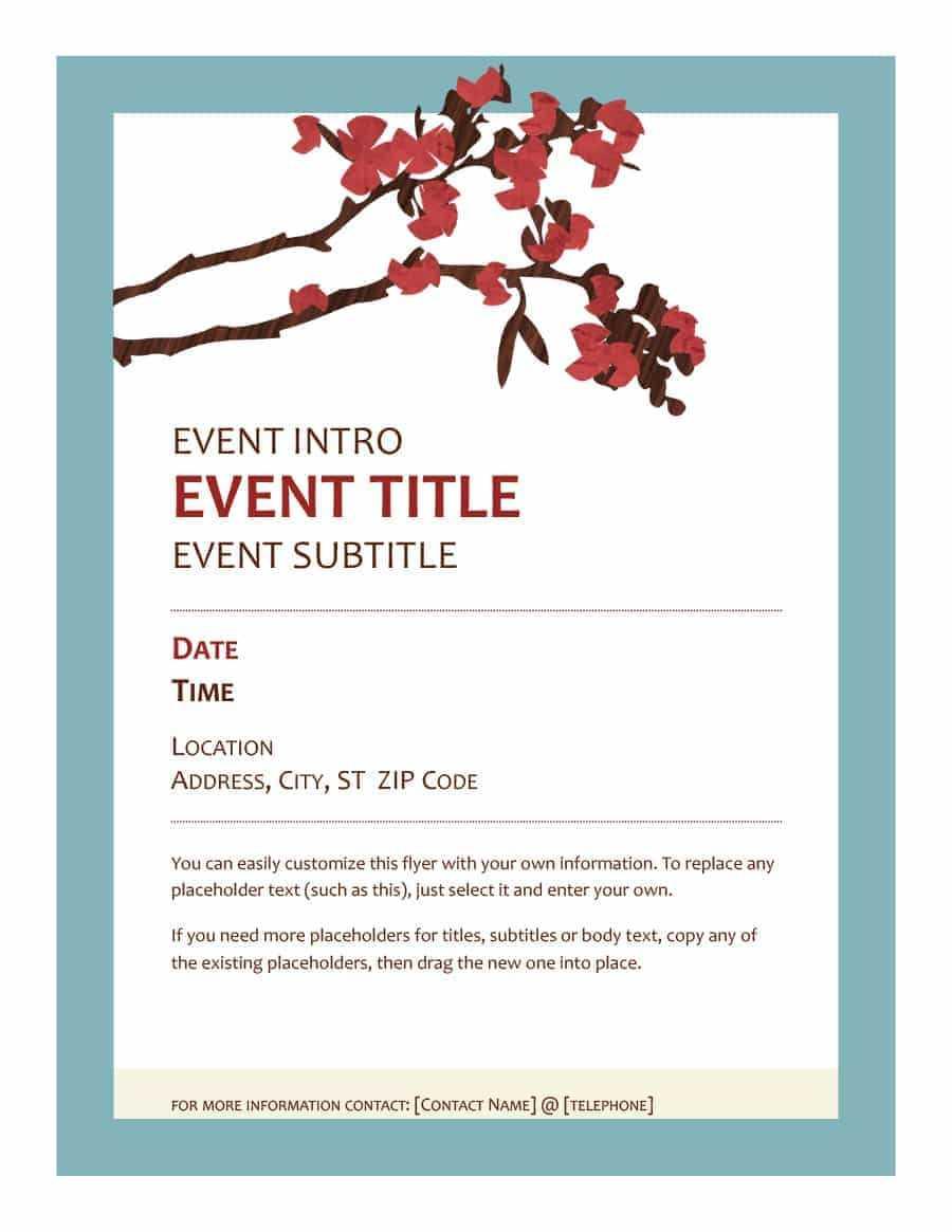 40+ Free Event Program Templates / Designs - Template Archive For Free Event Program Templates Word