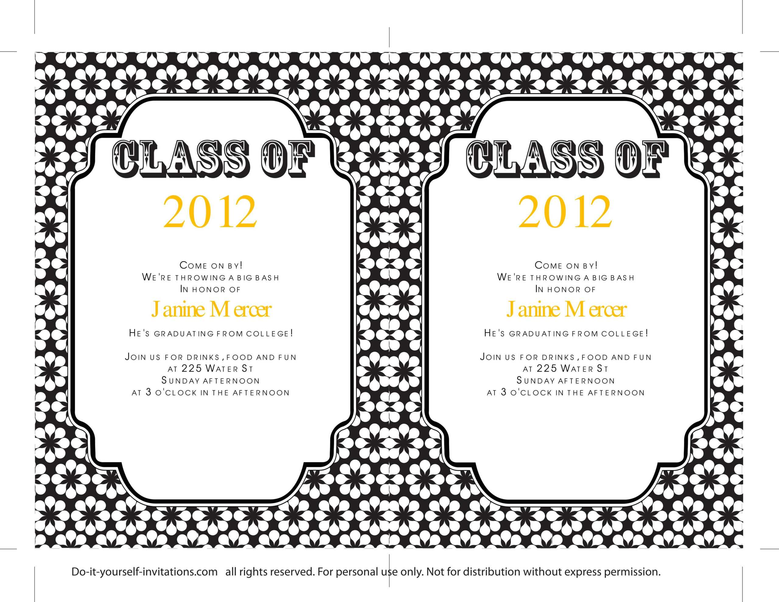 40+ Free Graduation Invitation Templates ᐅ Templatelab In Free Graduation Invitation Templates For Word