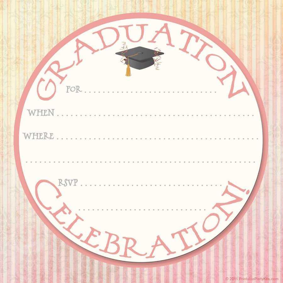 40+ Free Graduation Invitation Templates ᐅ Templatelab Intended For Graduation Party Invitation Templates Free Word