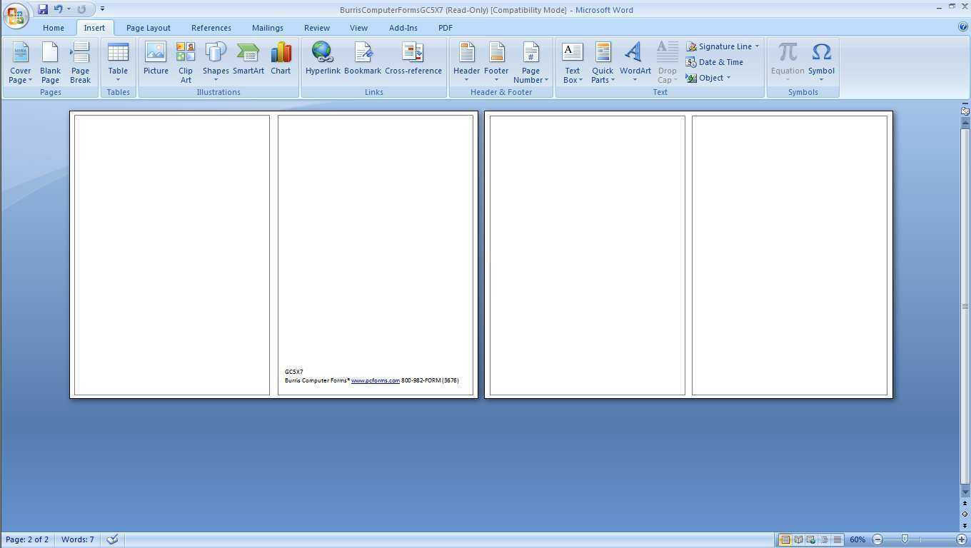 Free Blank Greeting Card Templates For Word - Professional ...