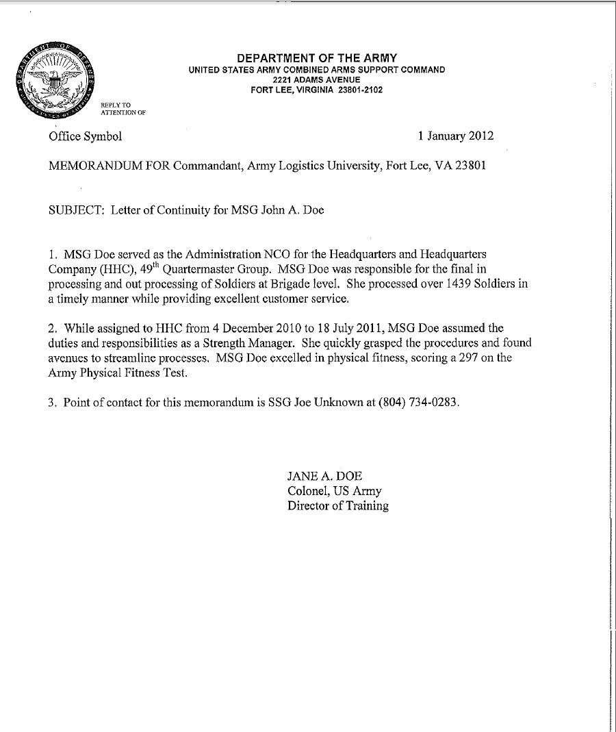 5+ Army Memorandum Templates - Word Excel Templates Pertaining To Army Memorandum Template Word