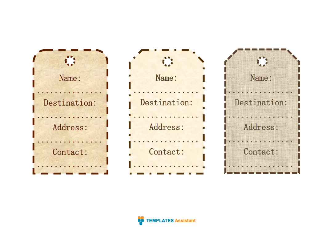 5 Luggage Tag Templates | Templates Assistant Pertaining To Luggage Tag Template Word