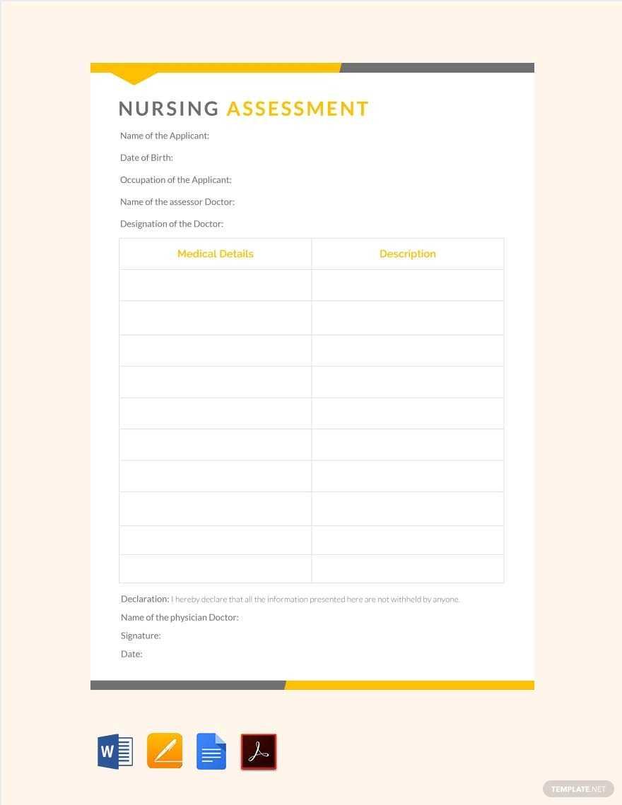 5+ Nursing Care Plan Templates In Word, Pdf, Apple Pages Throughout Nursing Care Plan Templates Blank