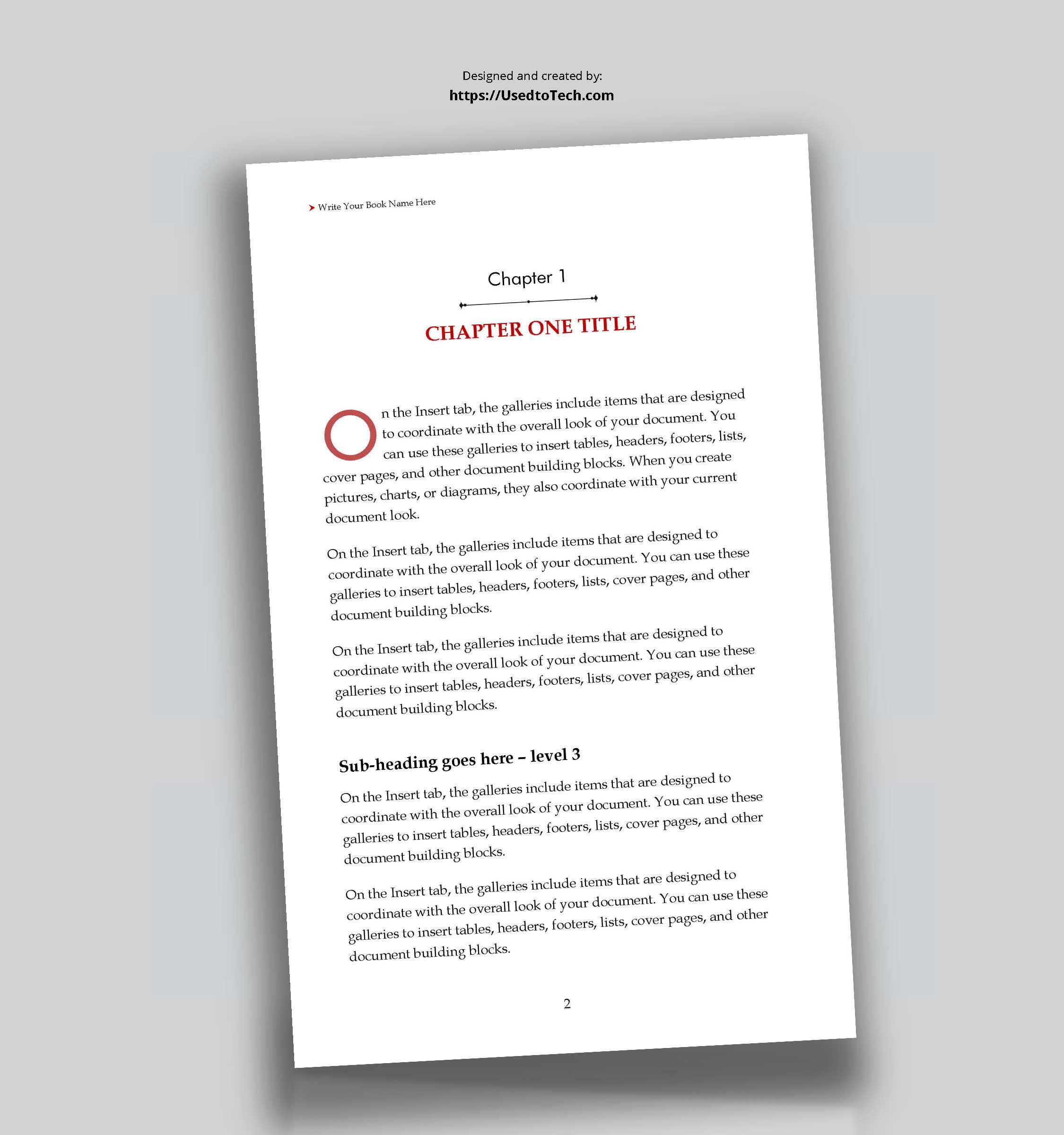 5 X 8 Editable Book Template In Word - Used To Tech With How To Create A Book Template In Word
