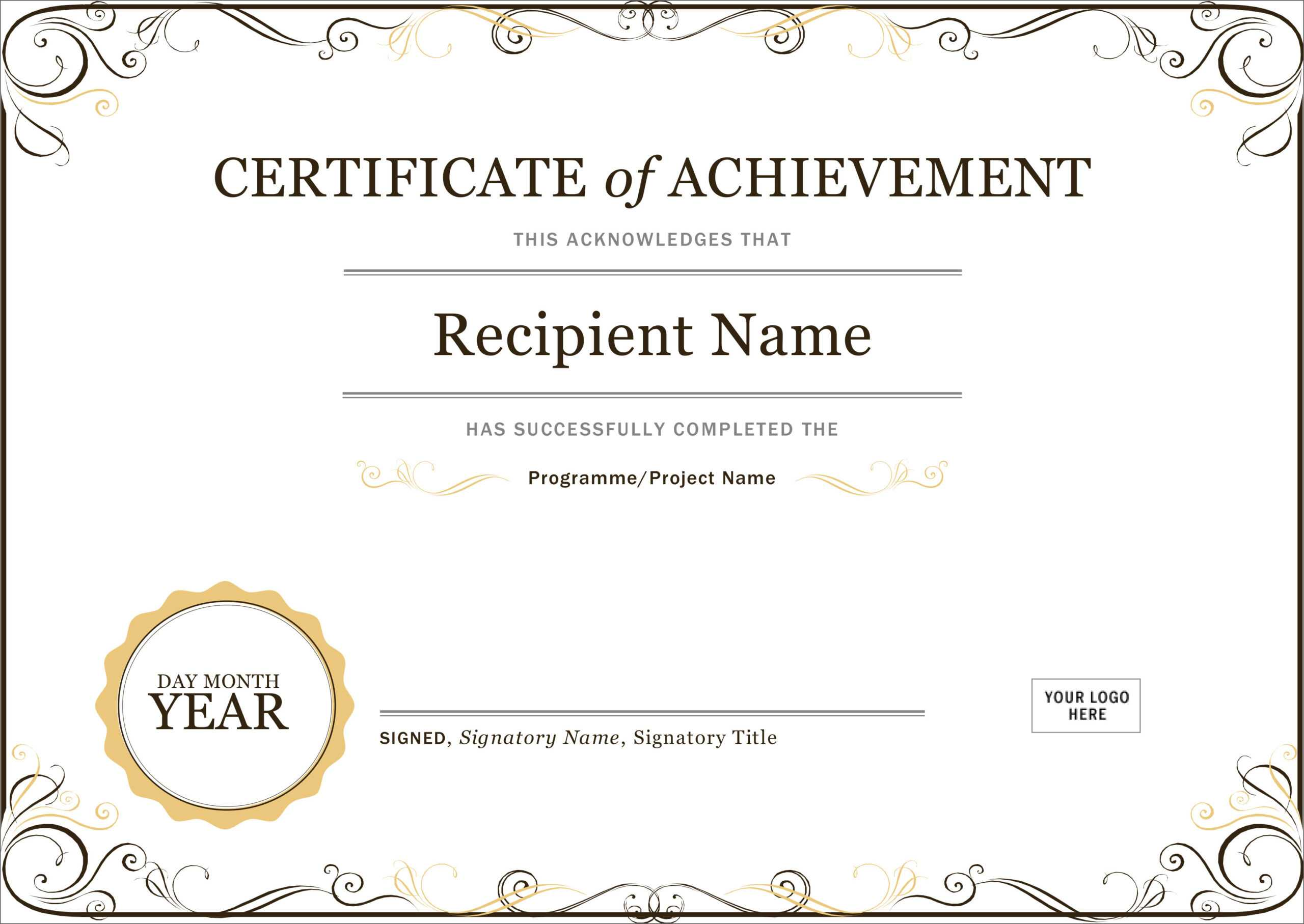 50 Free Creative Blank Certificate Templates In Psd For Blank Certificate Of Achievement Template