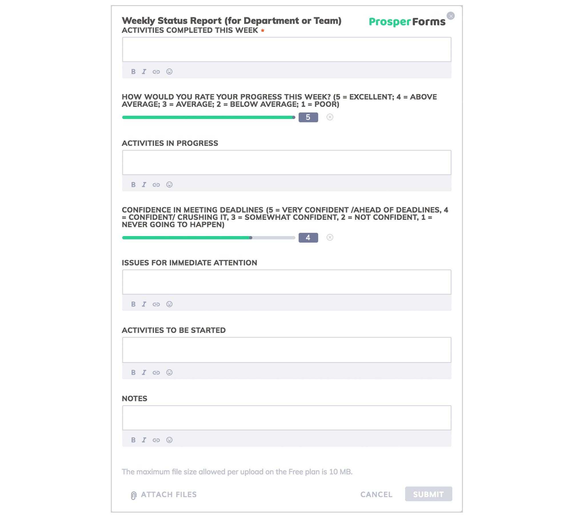 6 Awesome Weekly Status Report Templates | Free Download Within Team Progress Report Template