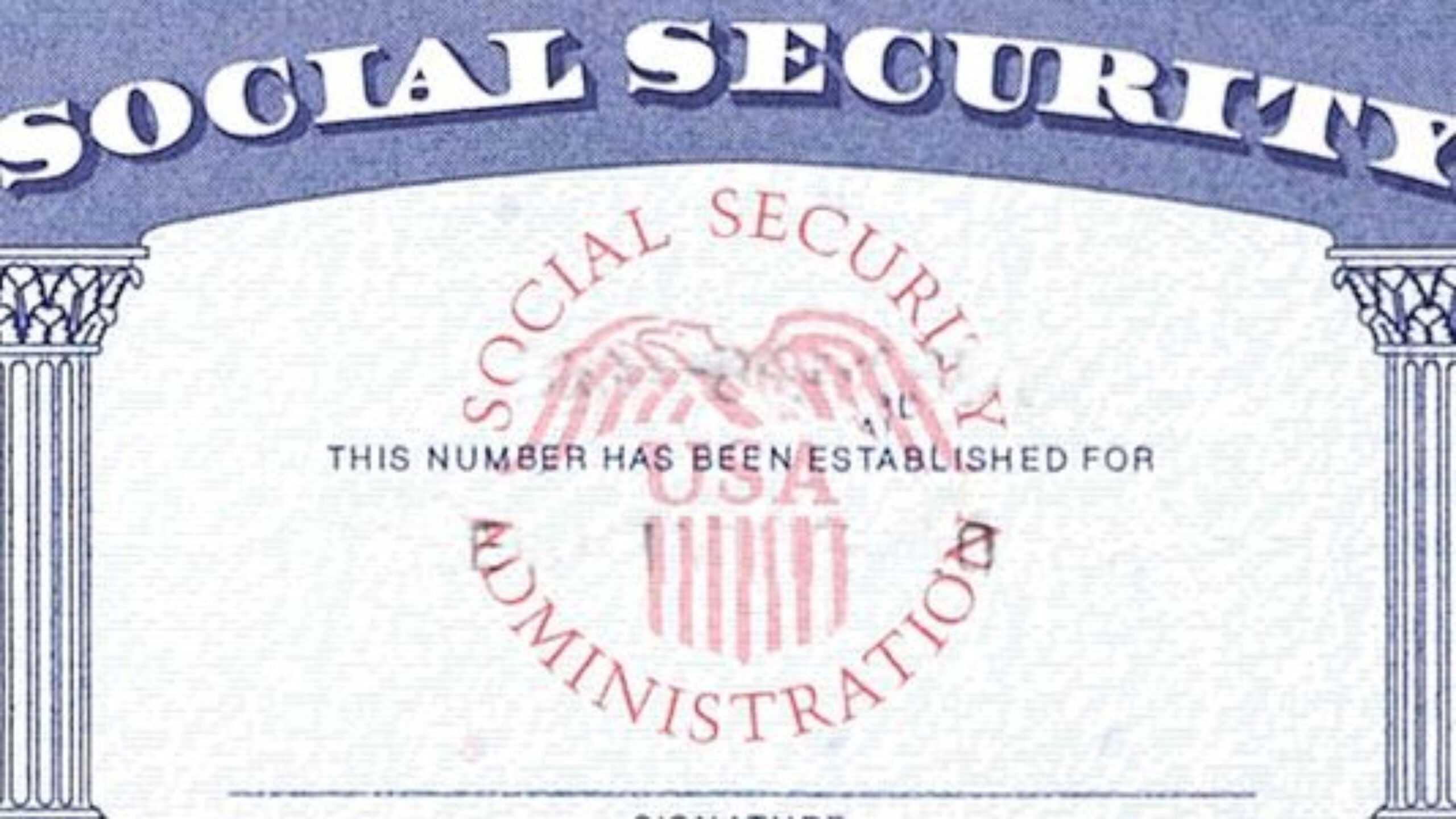 7 Social Security Card Template Psd Images - Social Security With Blank Social Security Card Template