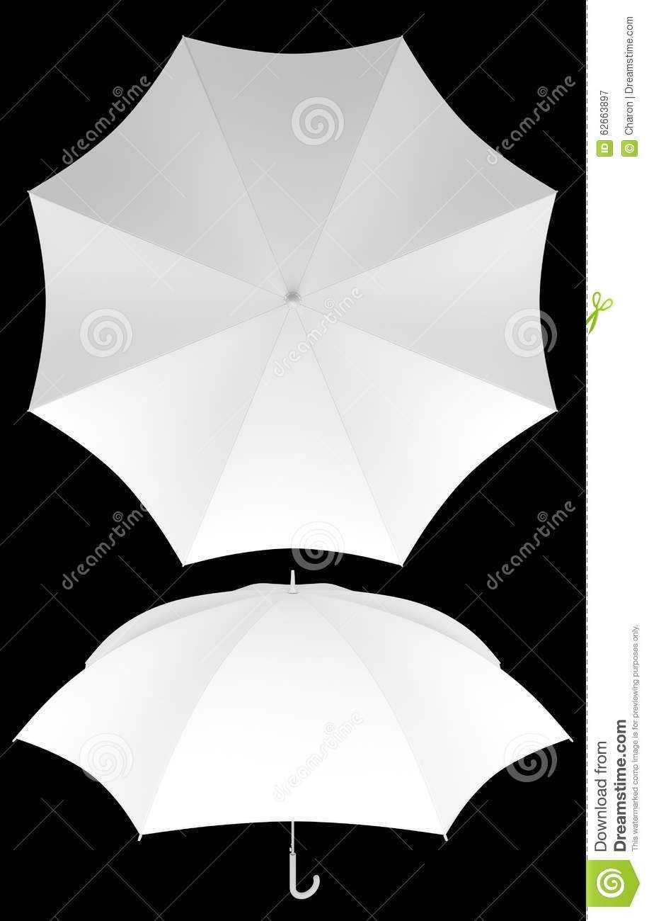 8 Rib Blank Umbrella Template Isolated Stock Image Intended For Blank Umbrella Template