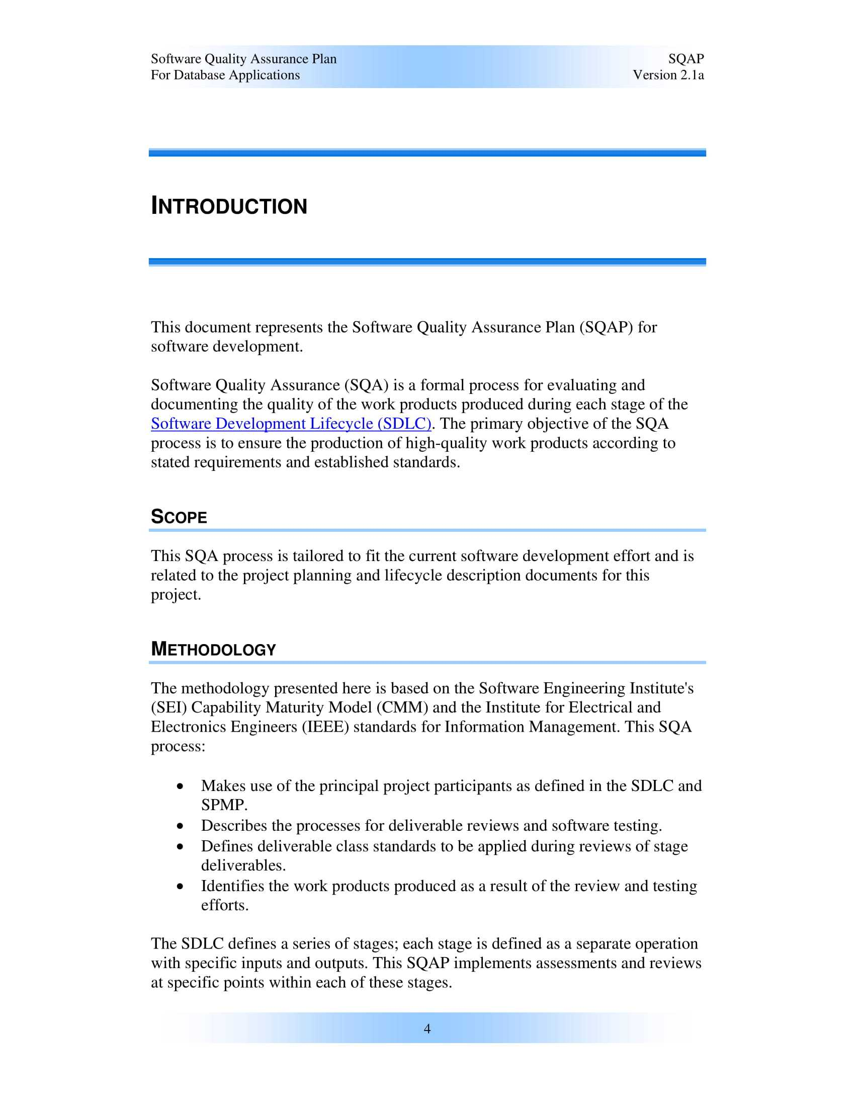 9+ Software Quality Assurance Plan Examples - Pdf | Examples Throughout Software Quality Assurance Report Template