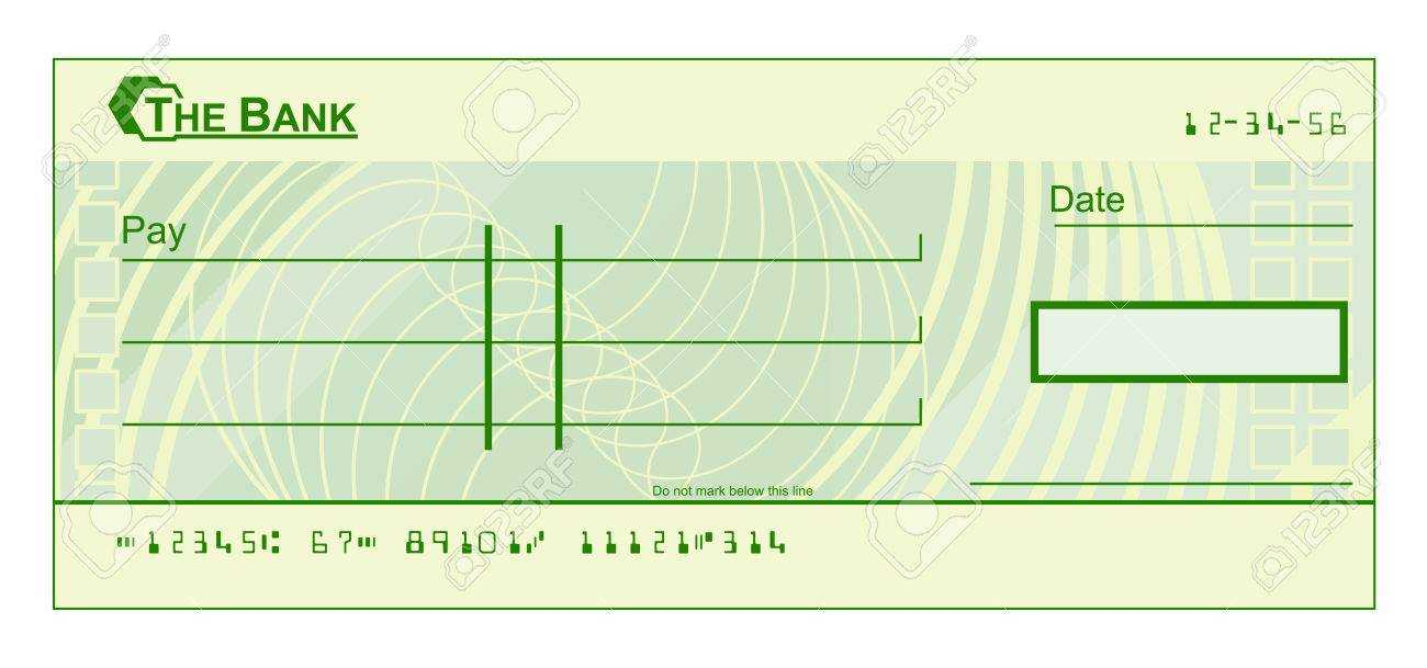 A Blank Cheque Check Template Illustration For Blank Cheque Template Download Free