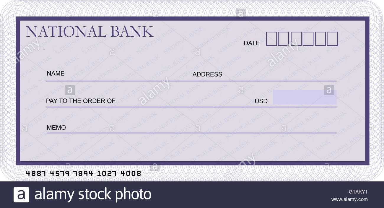 Bank Cheque Stock Photos & Bank Cheque Stock Images - Alamy With Regard To Blank Cheque Template Uk
