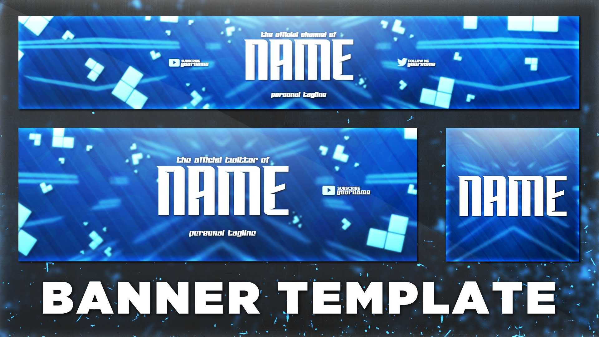 Banners – Page 14 – Templates In Youtube Banner Template Gimp