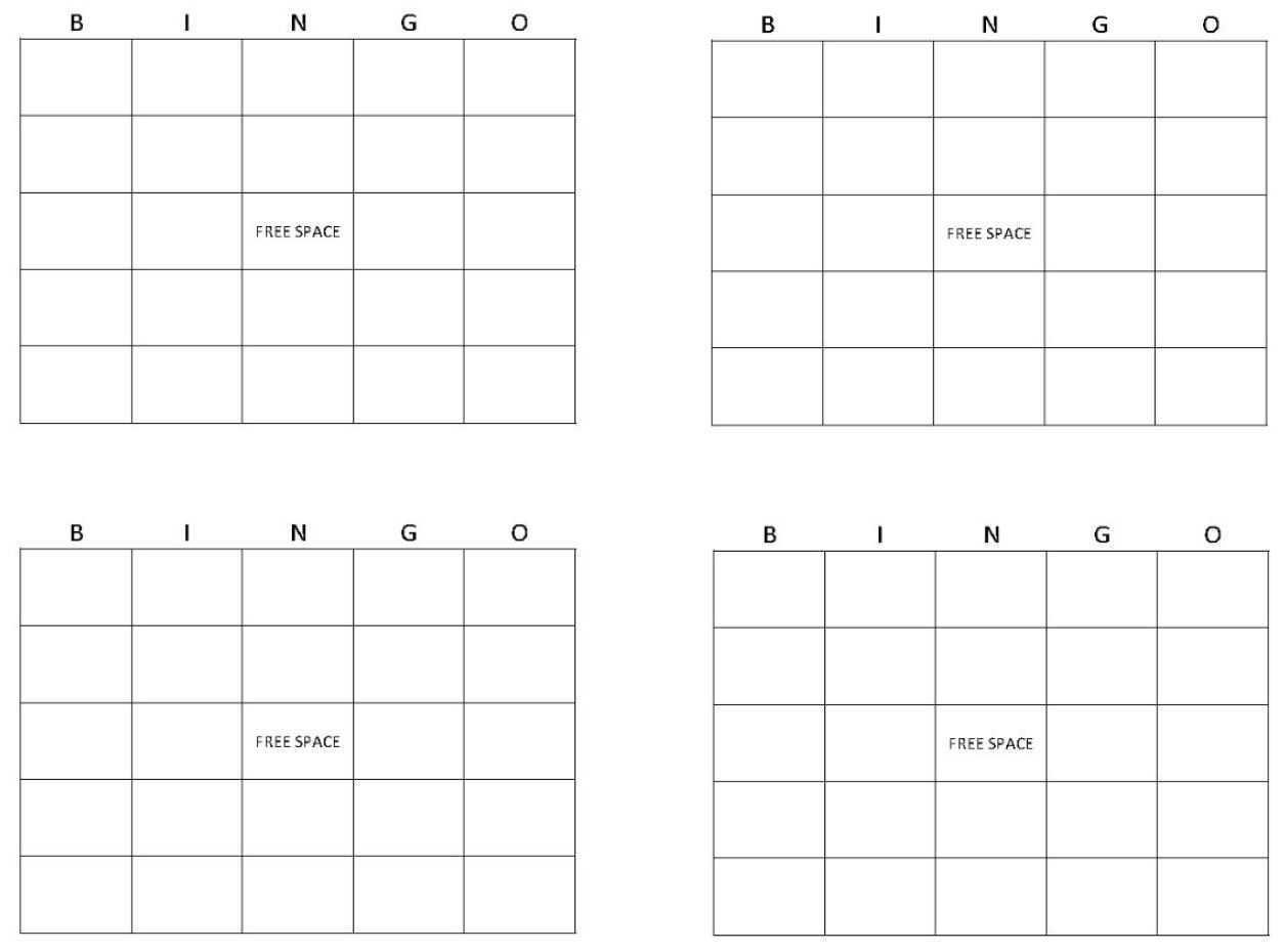 Blank Bingo Cards   Get Blank Bingo Cards Here With Regard To Blank Bingo Template Pdf