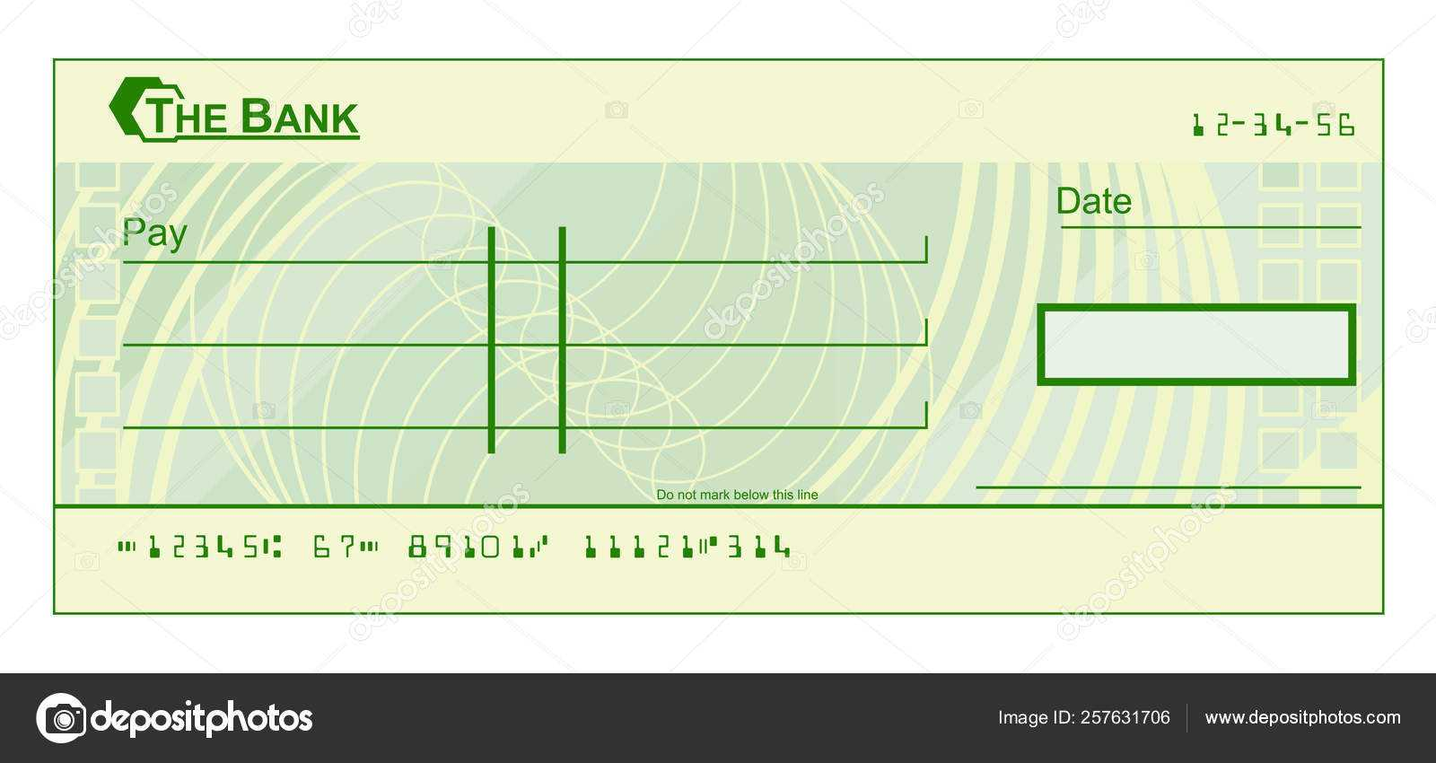 Blank Cheque Graphic — Stock Vector © Krisdog #257631706 Intended For Blank Cheque Template Download Free