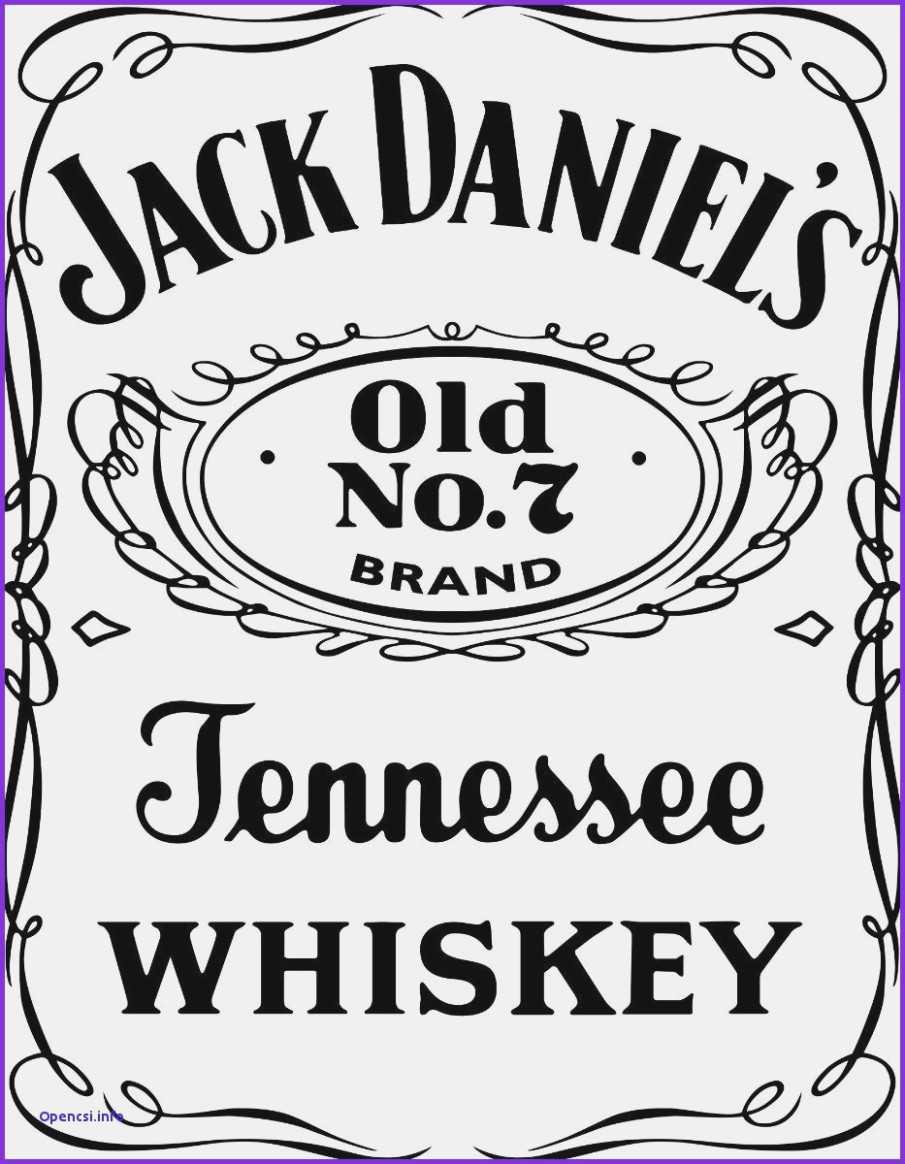 Blank Jack Daniels Label Template In Blank Jack Daniels Label Template