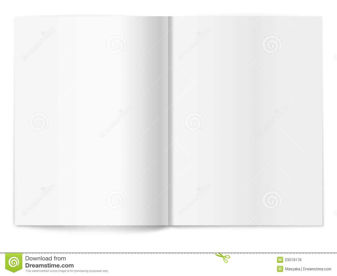 Blank Magazine Spread. Template For Design Stock Vector In Blank Magazine Spread Template