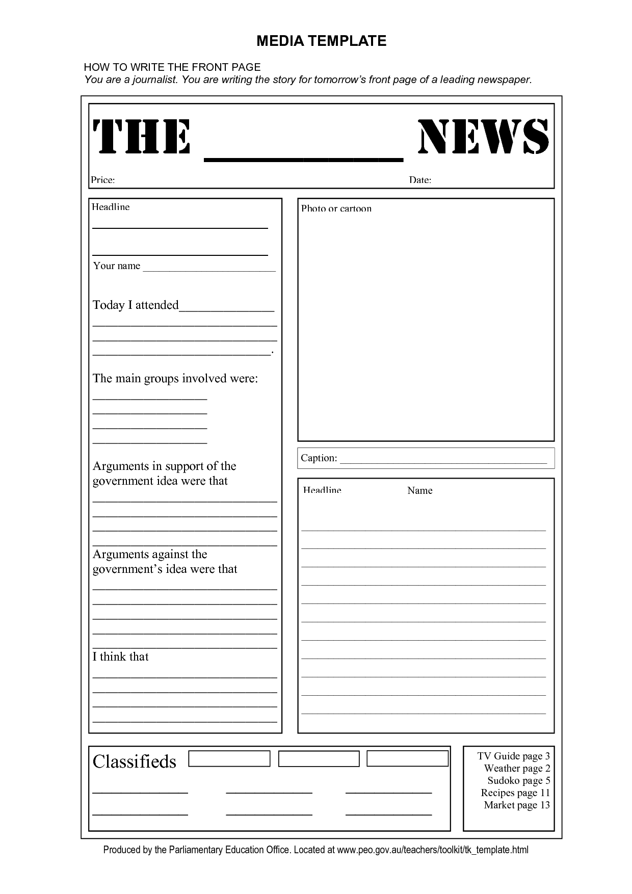 Blank Newspaper Template | E Commercewordpress Inside Blank Newspaper Template For Word