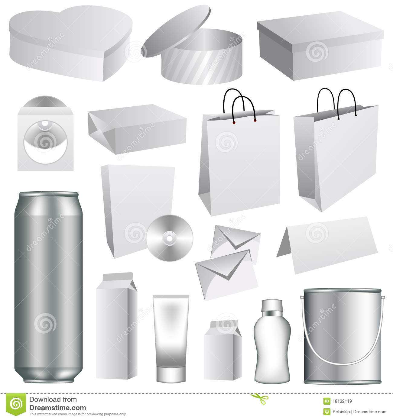 Blank Packaging Templates Stock Vector. Illustration Of Throughout Blank Packaging Templates