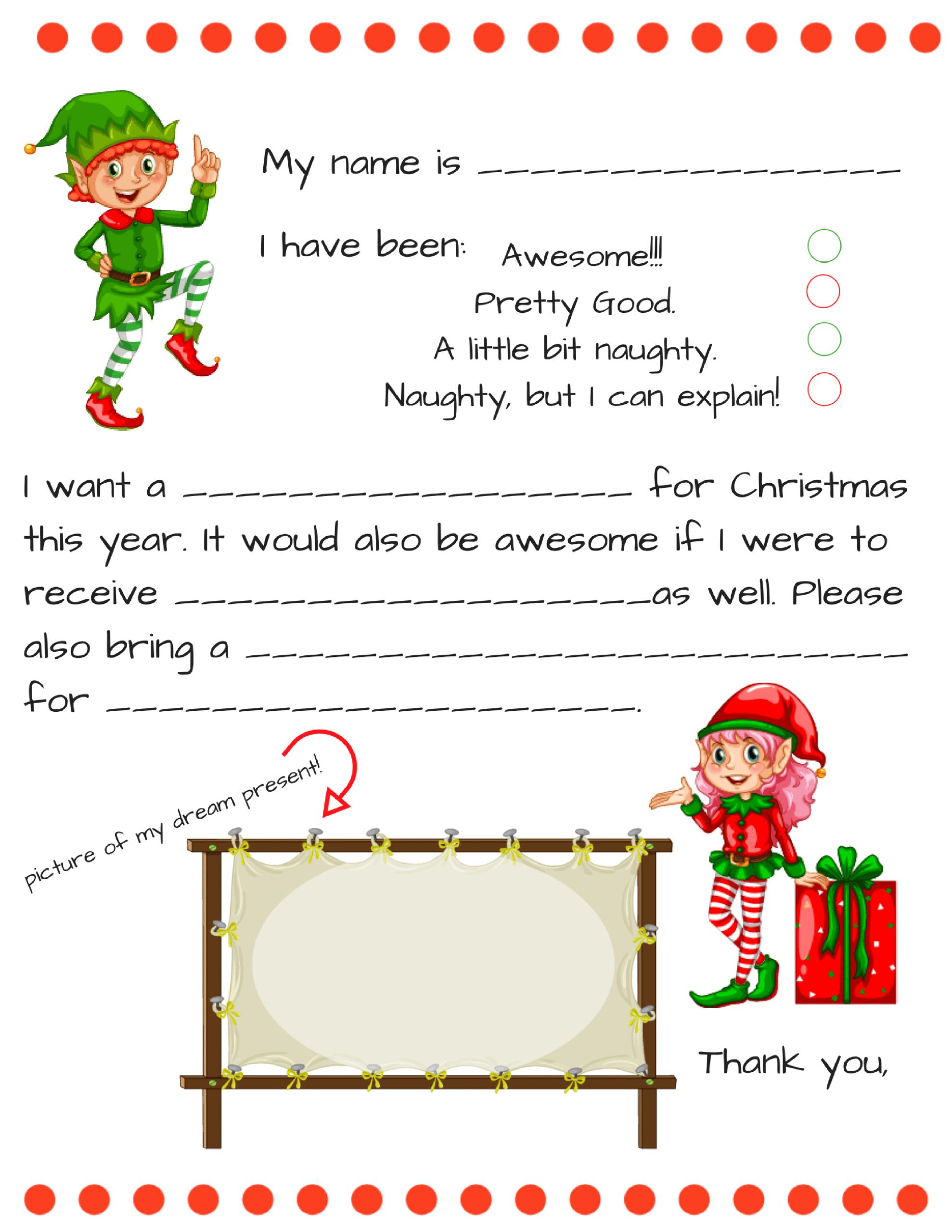 Blank Santa Letter Template Free - Karati.ald2014 With Regard To Blank Letter From Santa Template