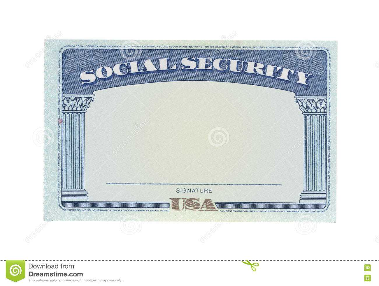 Blank Social Security Card Template Download - Great Inside Blank Social Security Card Template