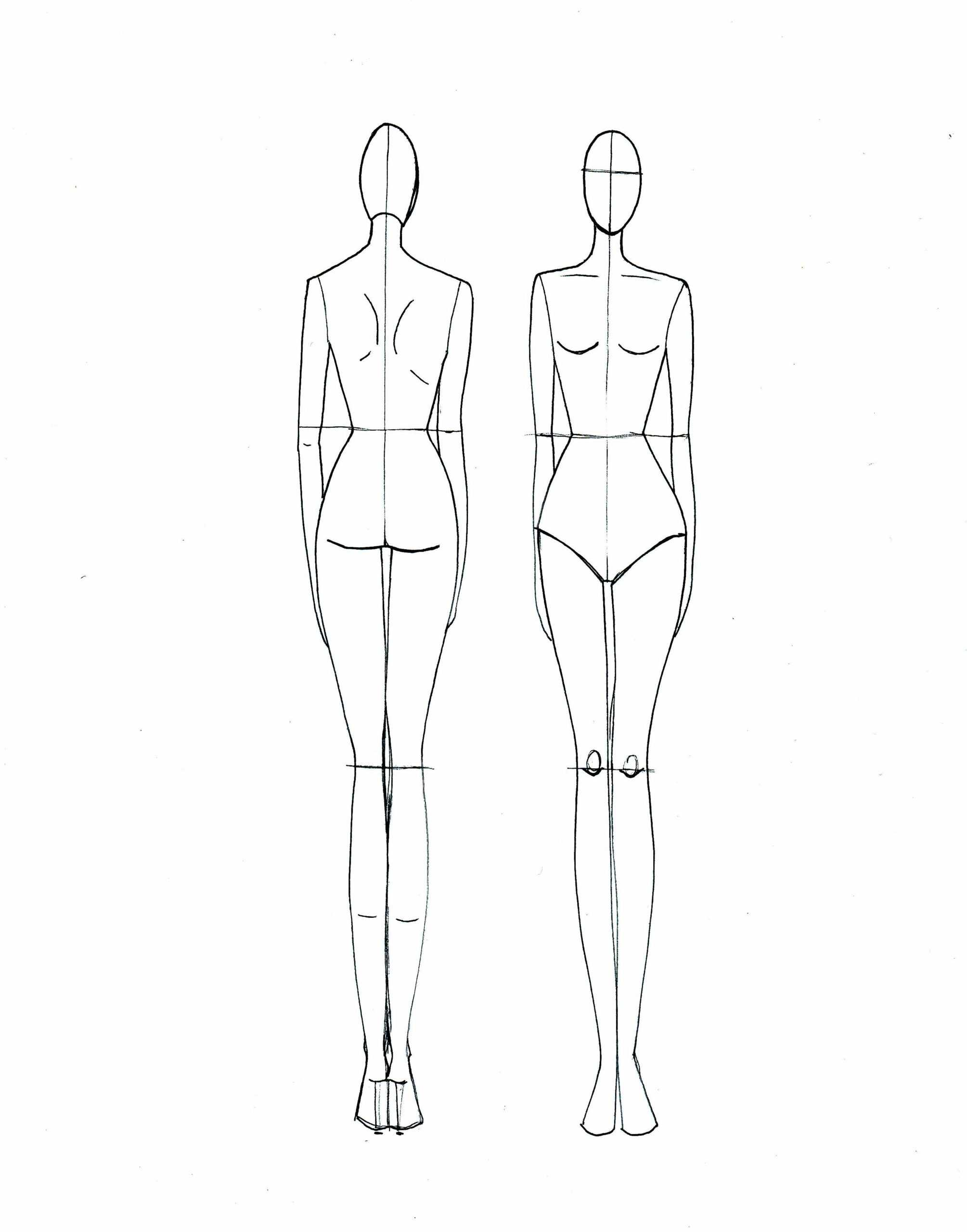 Body Sketch Template At Paintingvalley | Explore Within Blank Model Sketch Template
