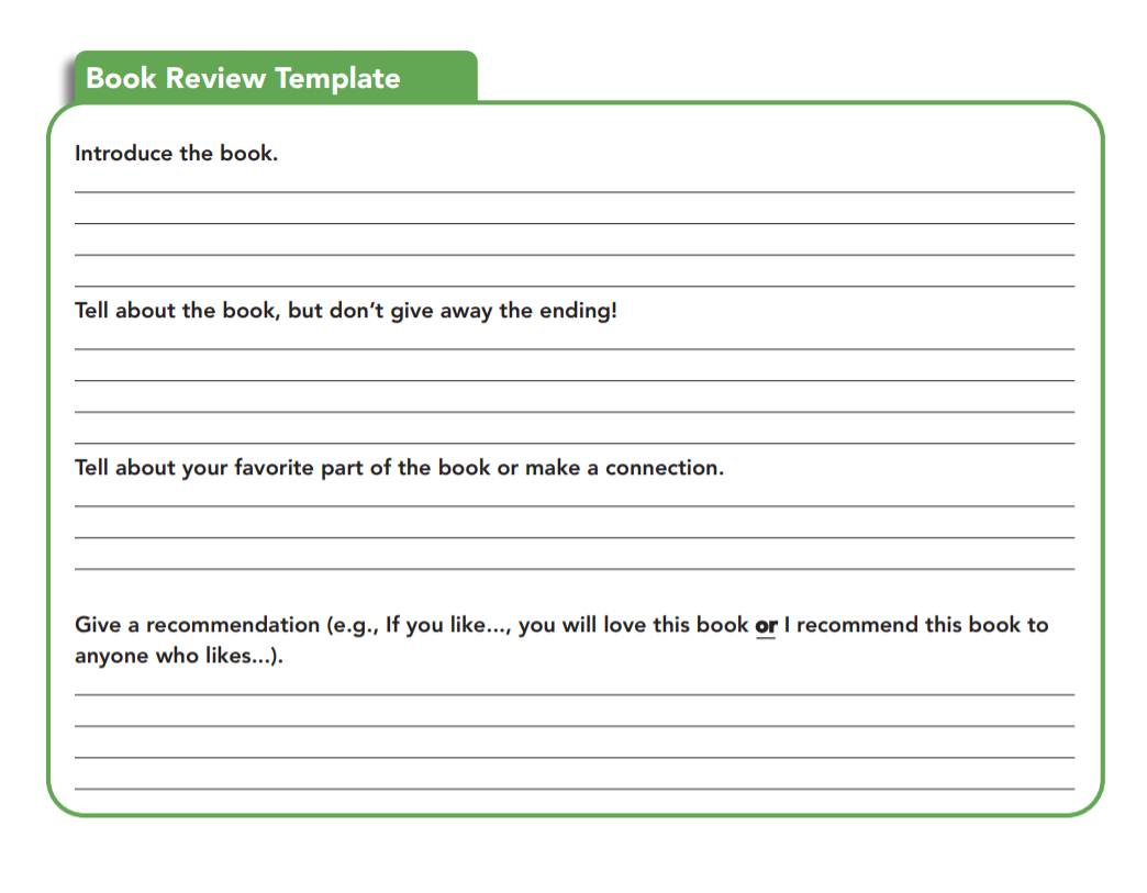 Book Review Examples And How To Write A Book Review With Regard To Middle School Book Report Template