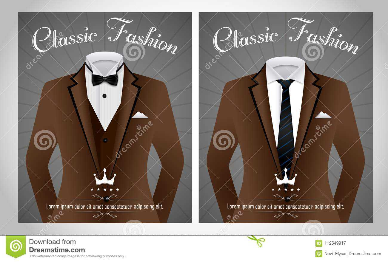 Business Suit Template With Black Tie And White Shirt Banner Pertaining To Tie Banner Template