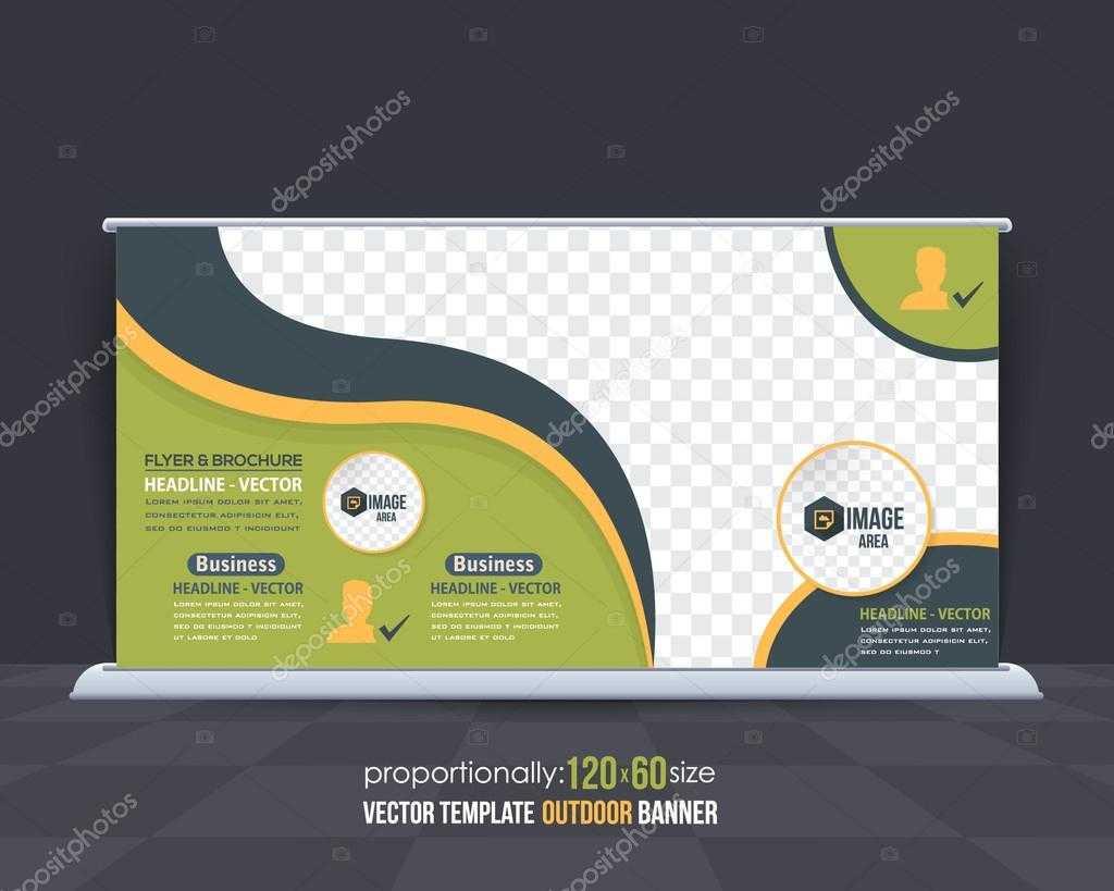 Business Theme Outdoor Banner Design, Advertising Vector Regarding Outdoor Banner Design Templates