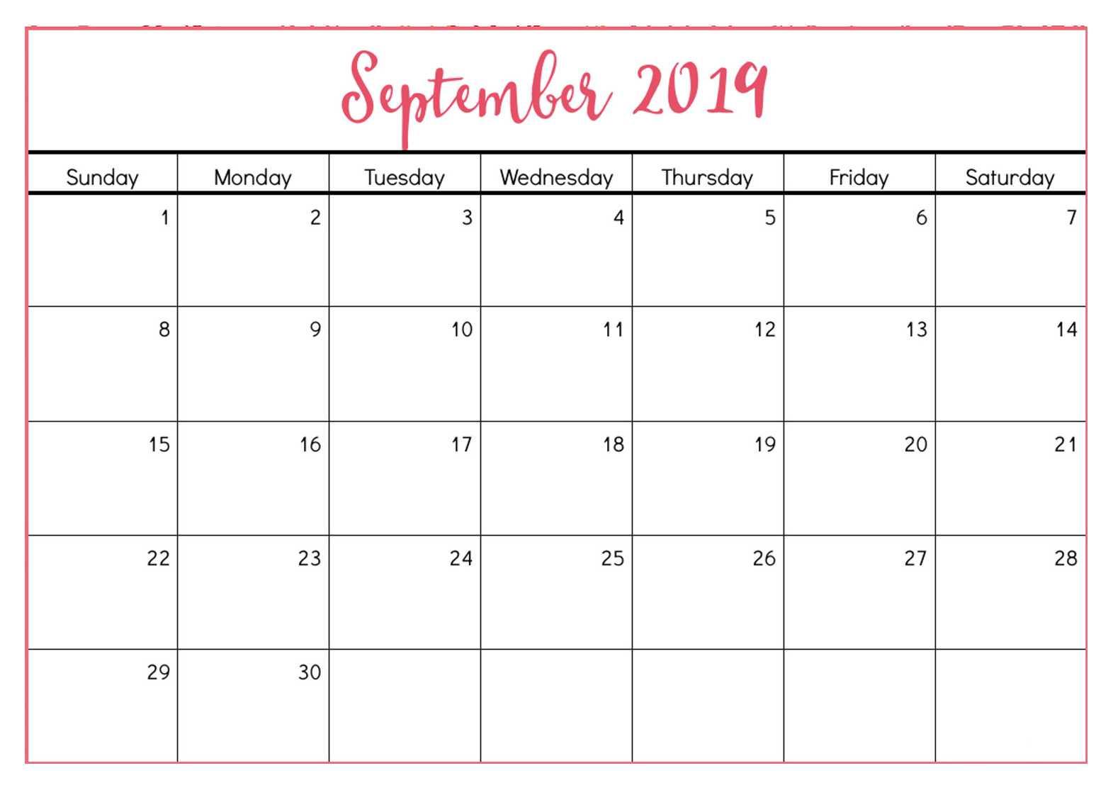 Calendar Templates Intended For Blank Calander Template