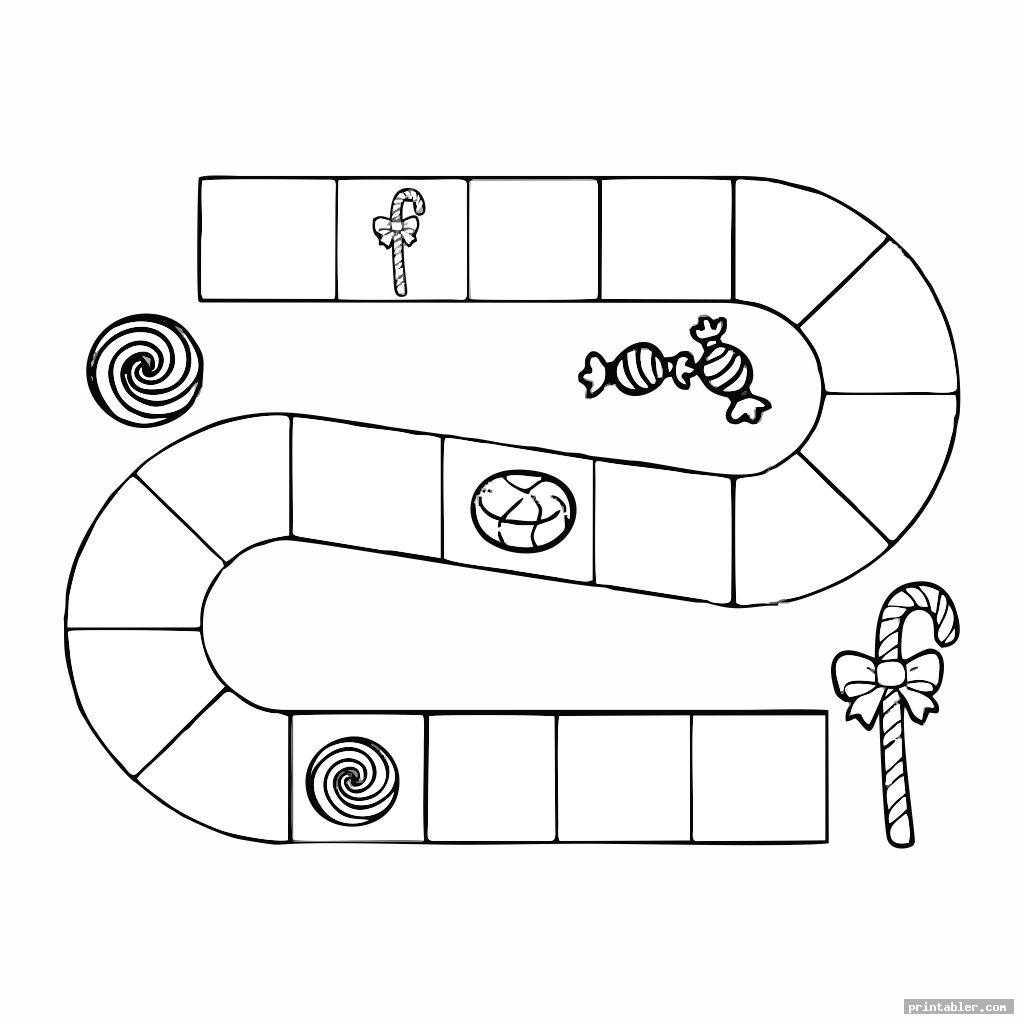 Candyland Board Template Printable - Printabler Intended For Blank Candyland Template