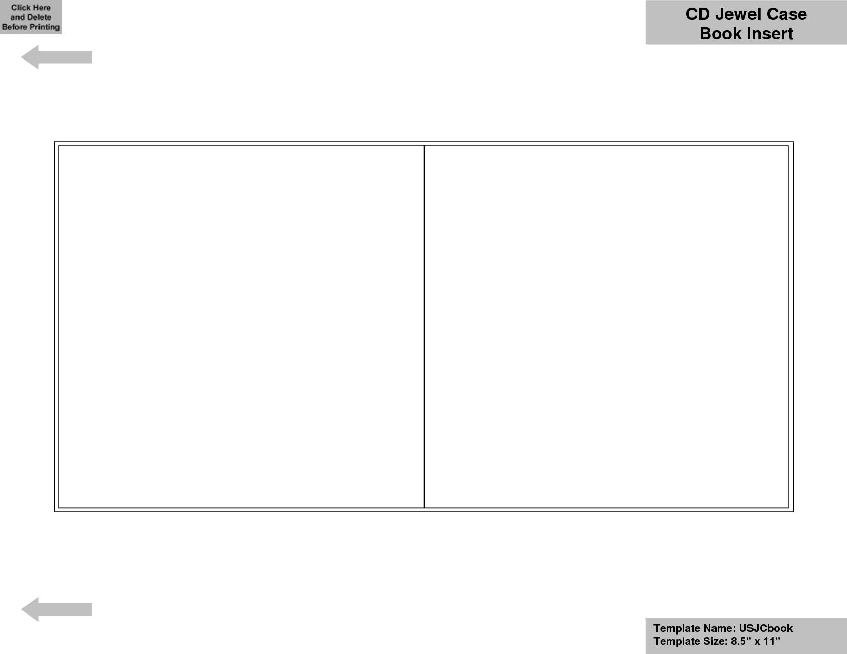 Cd Case Template Word - Barati.ald2014 Regarding Blank Cd Template Word