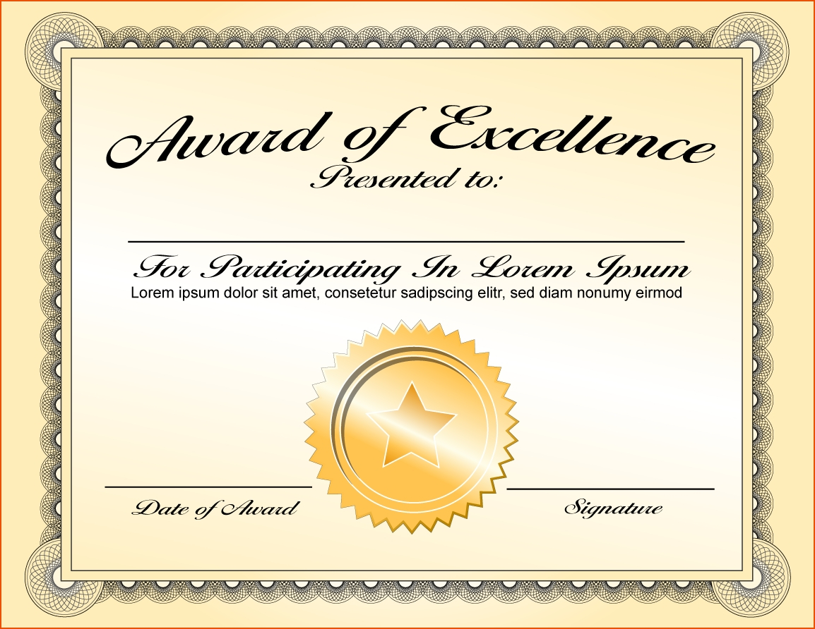 Certificate Template Award   Safebest.xyz In Blank Award Certificate Templates Word