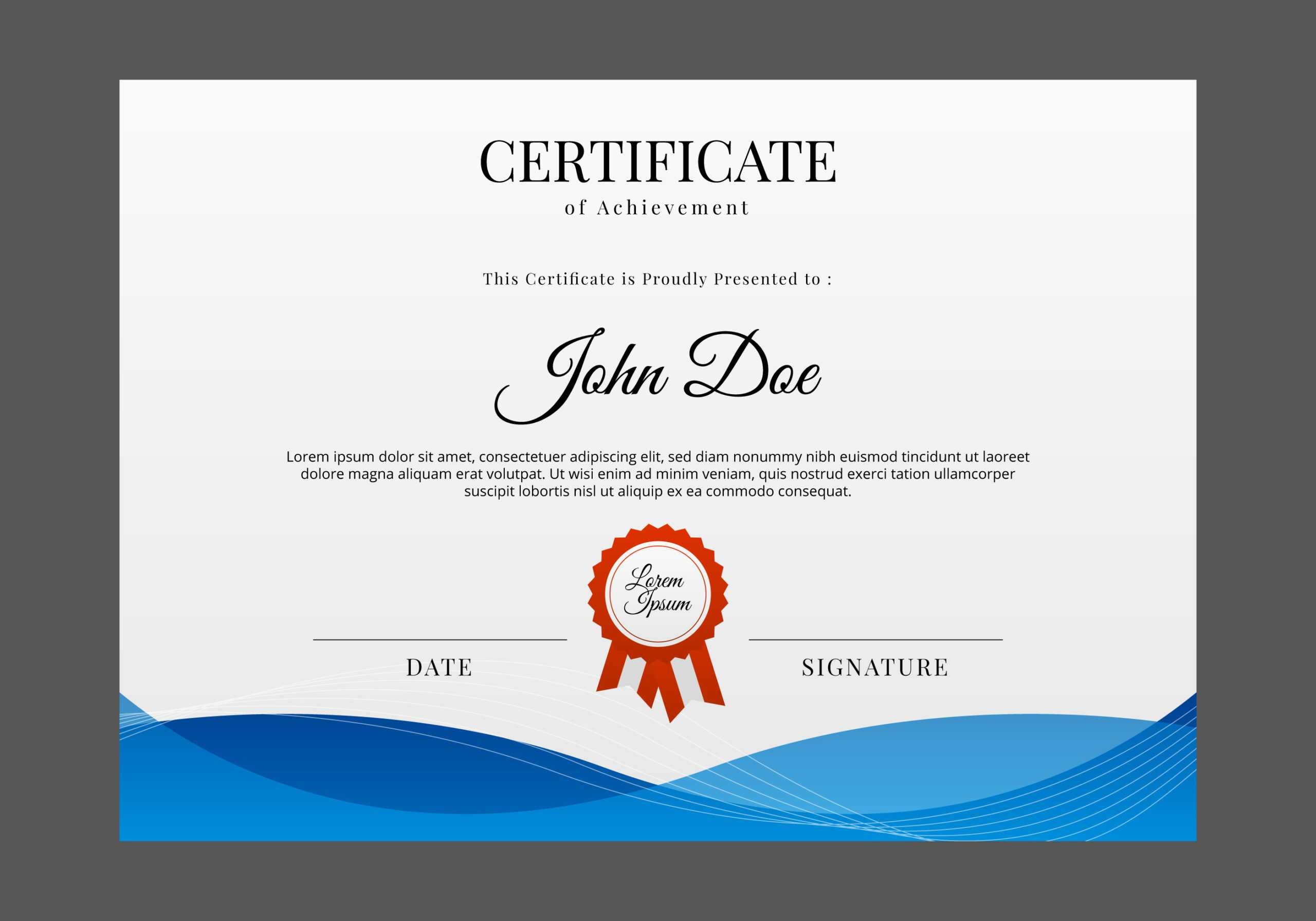 Certificate Templates, Free Certificate Designs Throughout Professional Certificate Templates For Word