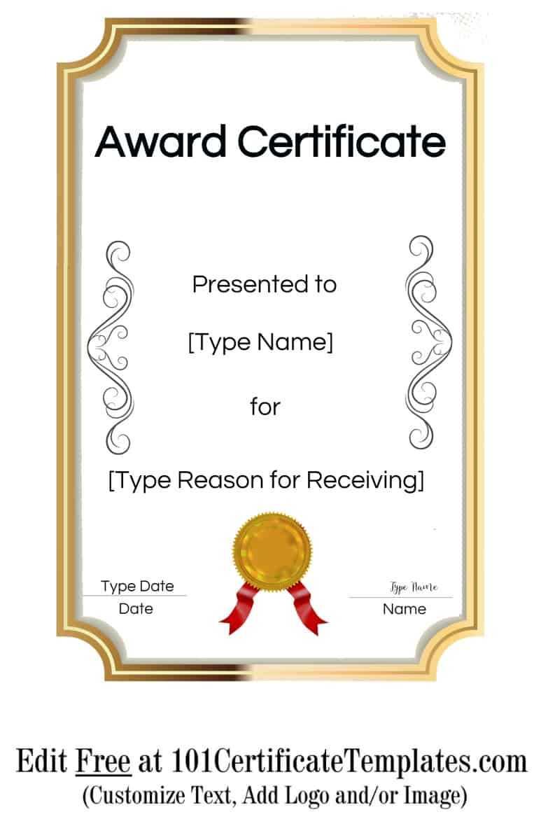 Certificate Templates In Blank Certificate Of Achievement Template