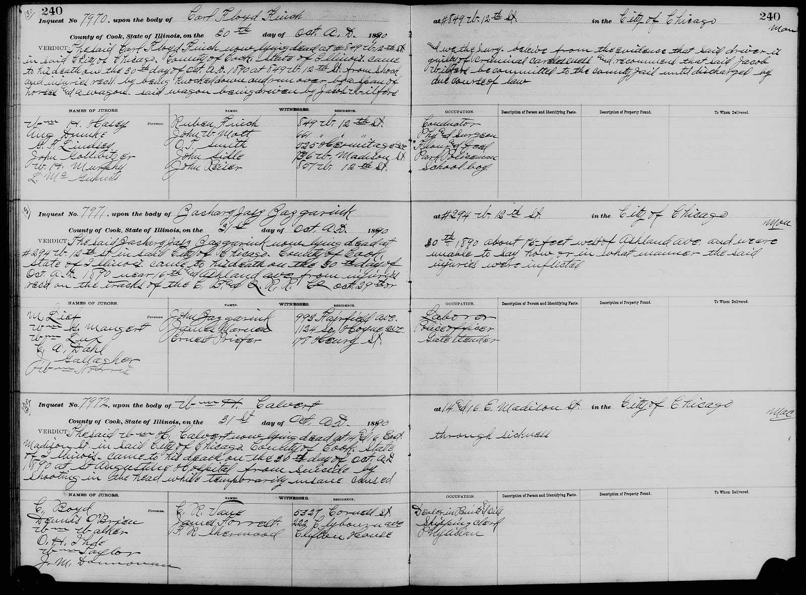 Chicagogenealogy: Research Insights From Study And Within Coroner's Report Template