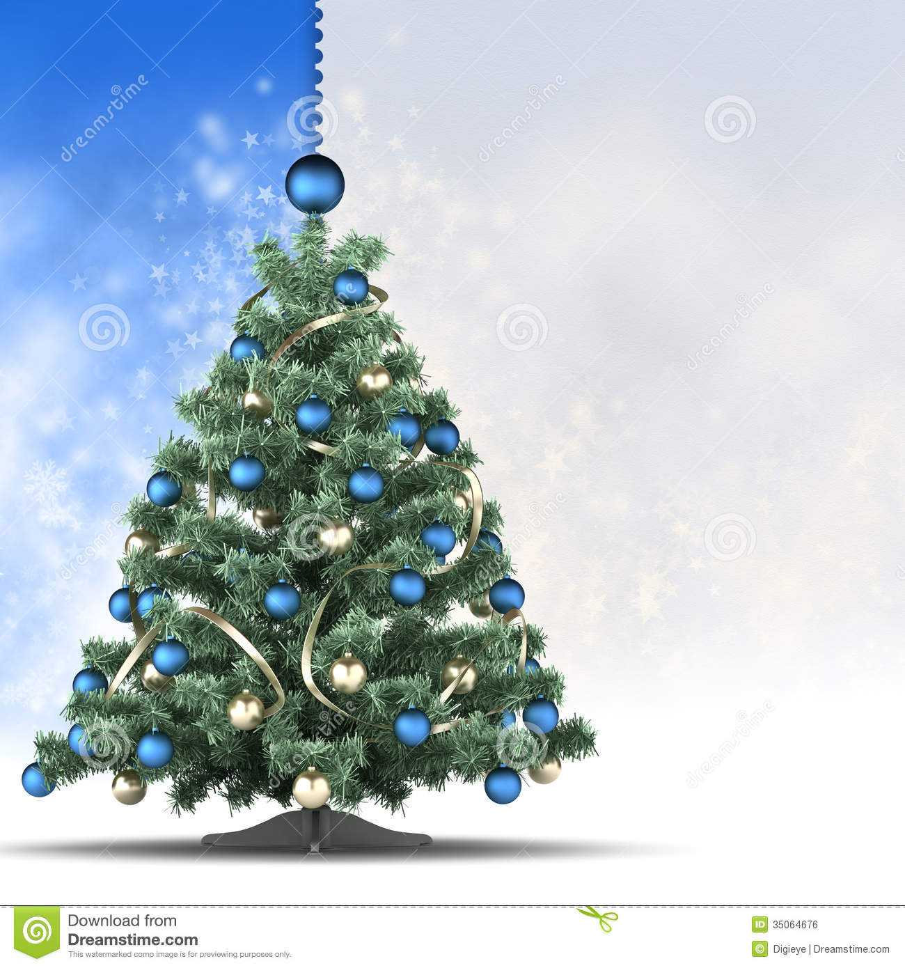 Christmas Card Template - Xmas Tree And Blank Space For Text Pertaining To Blank Christmas Card Templates Free