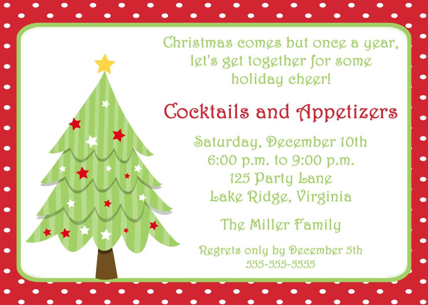 Christmas Party Invitation Templates Free Word Wedding Throughout Free Christmas Invitation Templates For Word